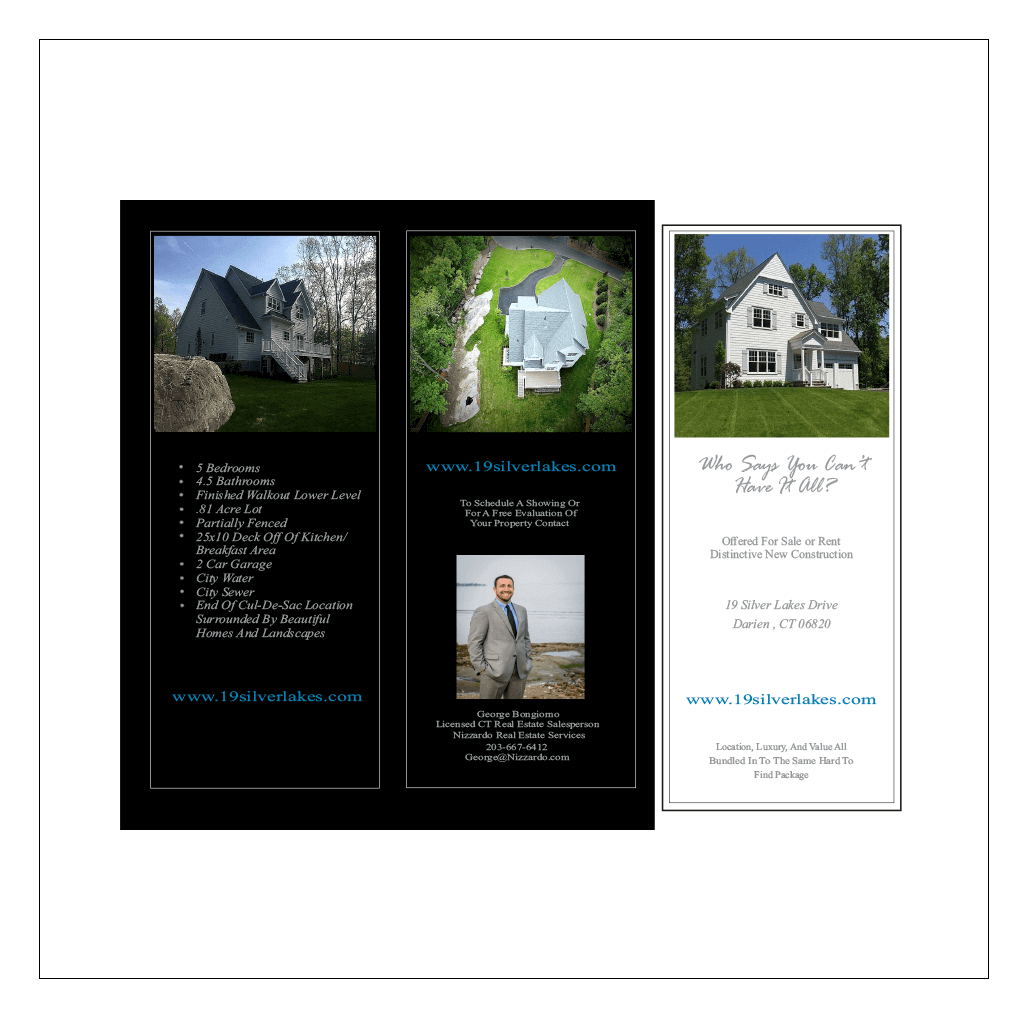 Bongiorno real estate brochure by JPG of Stamford